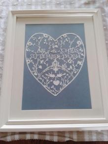 julie's wedding heart